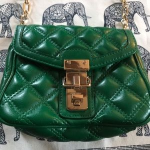 Retro Green Crossbody Purse